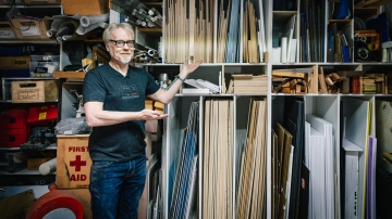 Adam Savage Reorganizes His Workshop's Material Storage!