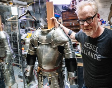 Adam Savage Inspects a $500 Suit of Armor!