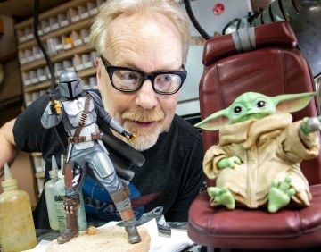 Adam Savage Unboxes The Mandalorian Collectibles!