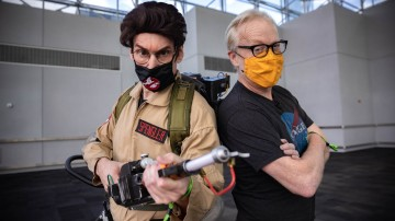 Puppet Master Rick Lyon's Ghostbusters Cosplay at New York Comic Con!